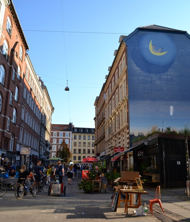 Little Paris Street, Værnedamsvej, in Copenhagen - flea market