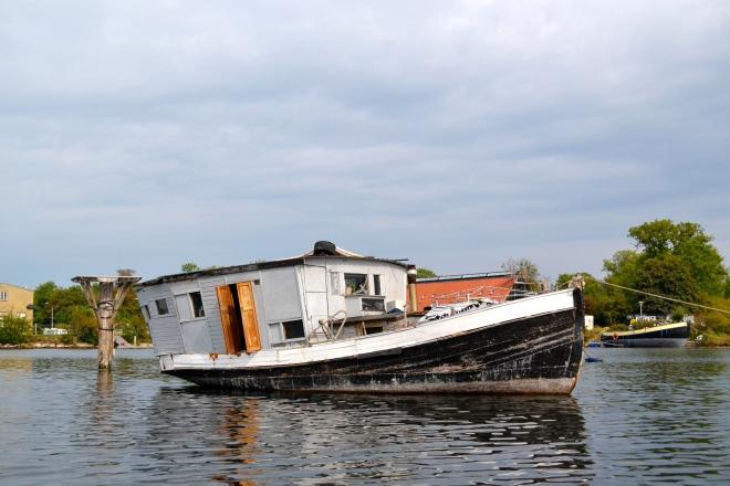 Boat in Copenhagen Canal