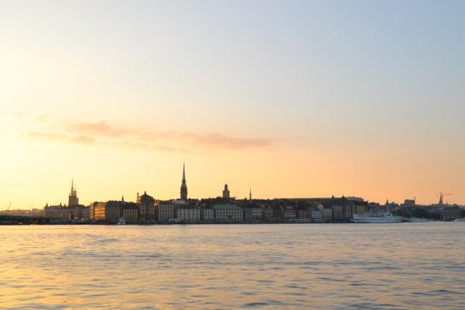 view of stockholm sweden from Monteliusvägen