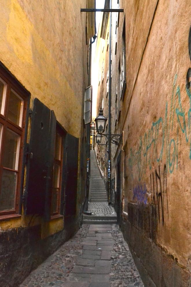 gamla stan narrowest street in stockholm sweden