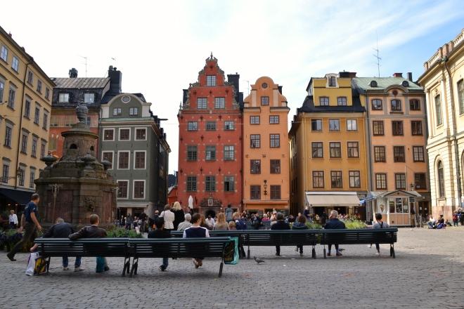 gamla stan Stortorget square in stockholm sweden