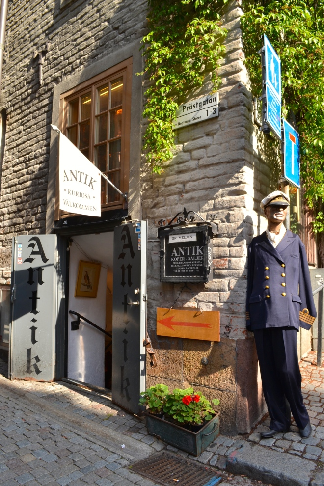 gamla stan antique shop in stockholm sweden