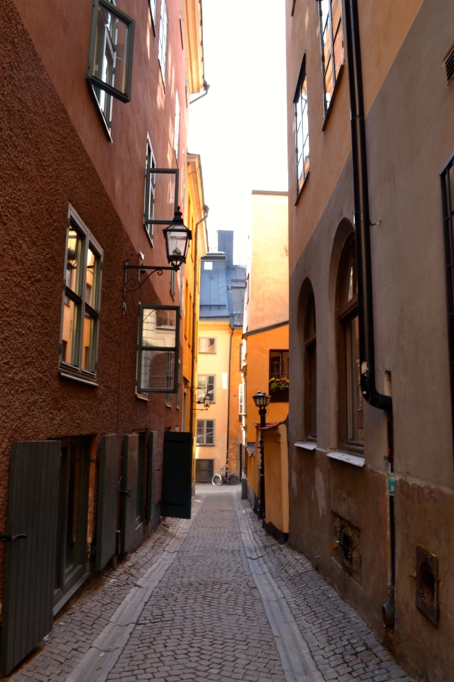 gamla stan street in stockholm sweden
