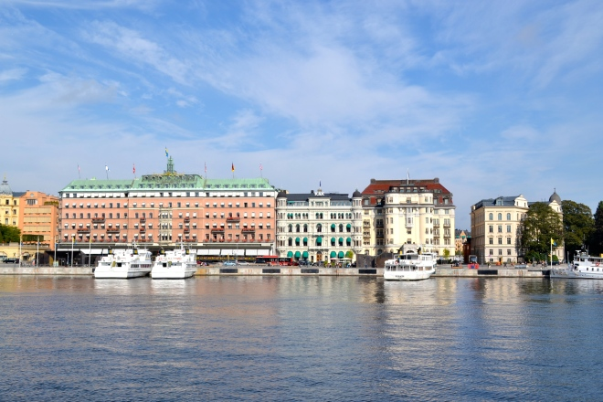view of norrmalm and ostermalm from gamla stan stockholm sweden