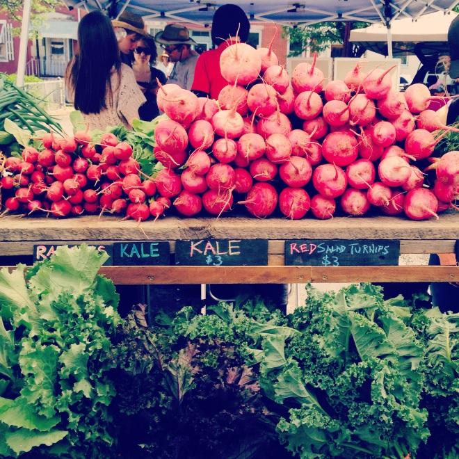 farmers market in Hudson, NY