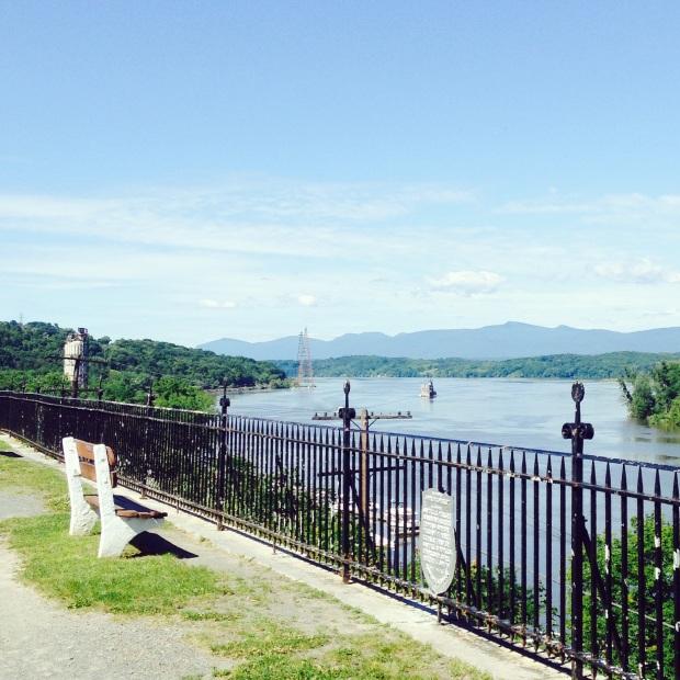 Hudson River view in Hudson, NY
