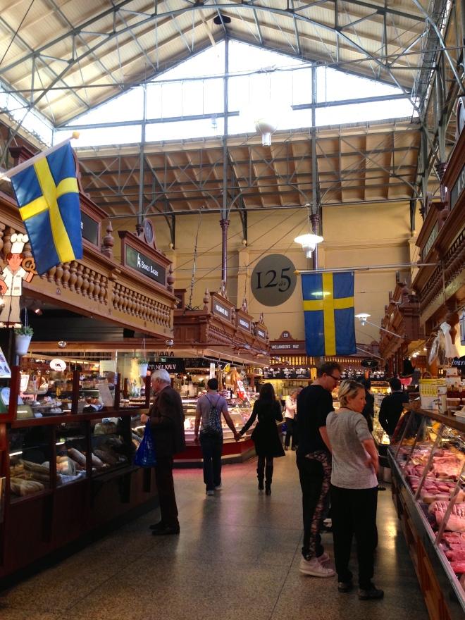 saluhall food market in ostermalm stockholm sweden