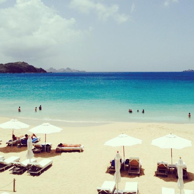 beach view in st. barths isle de france