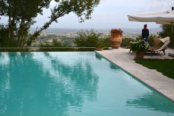 infinity view with tuscan views  in tuscany, montepulciano, italy villa cicolina