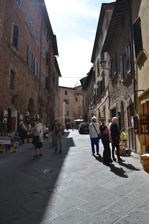 city center in tuscany, montepulciano, italy