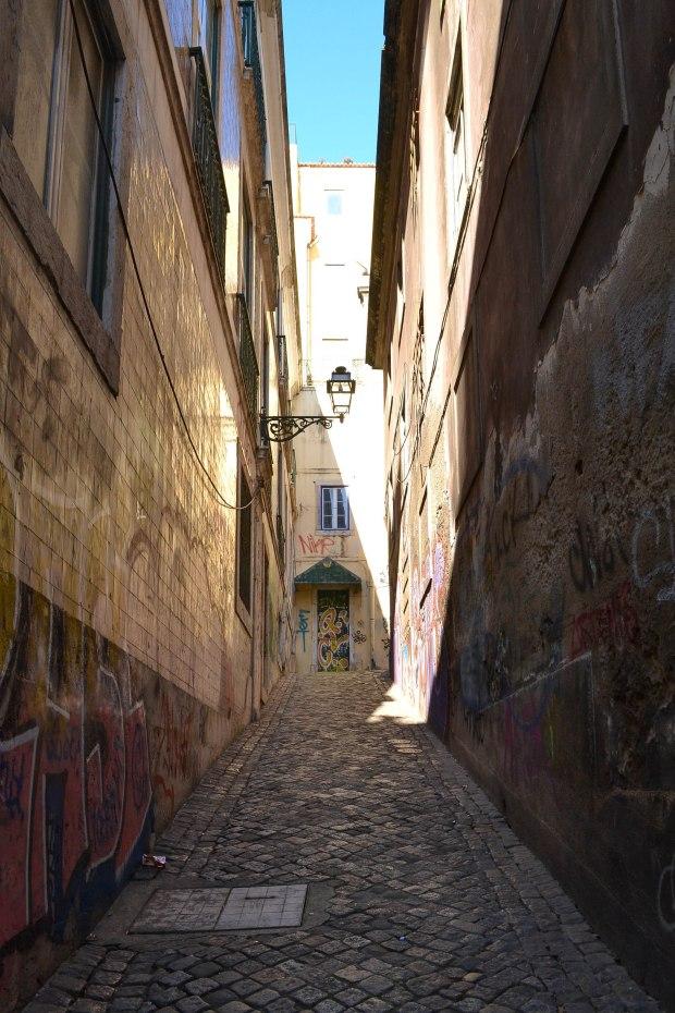 alleyway in lisbon, portugal