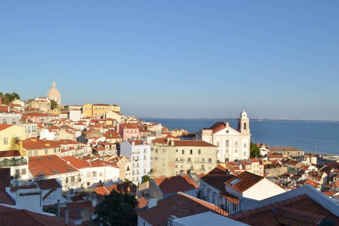 view from alfama in lisbon portugal
