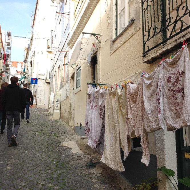laundry day in lisbon portugal christmas time