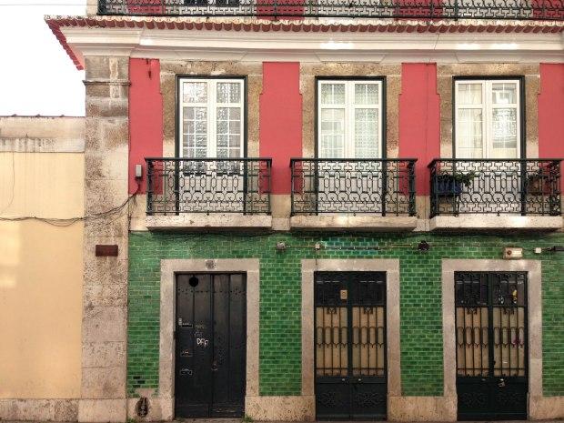 christmas themed azulejos in lisbon portugal