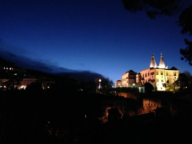 Sintra, Portugal at night