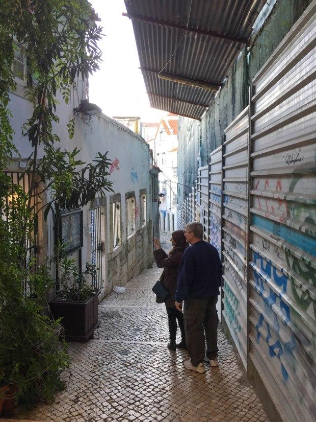 Streets of Alfama, Lisbon, Portugal