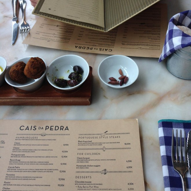 Lunch at Cais da Pedra in Lisbon, Portugal