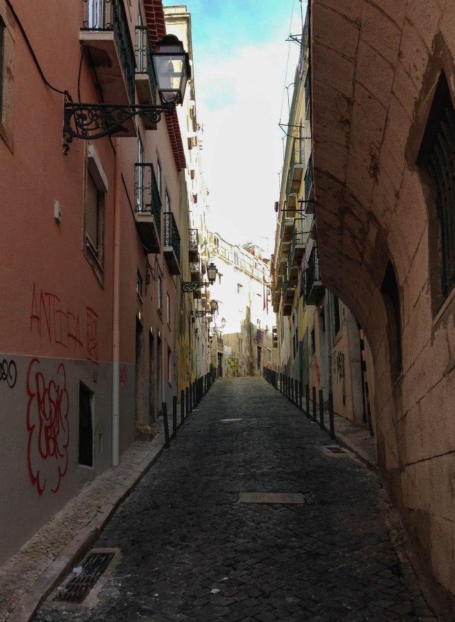 Streets of Bairro Alto, Lisbon, Portugal