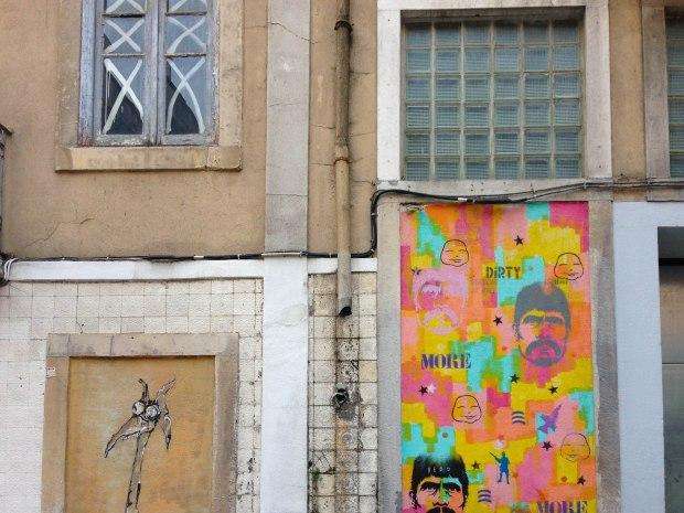 Street art in Bairro Alto, Lisbon, Portugal