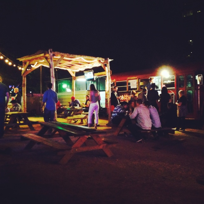Food truck lot on Rainey Street, Austin, Texas